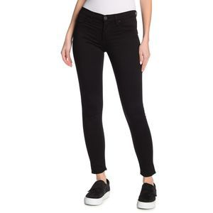 Hudson Black Raw Hem Mid-Rise Natalie Jeans 31